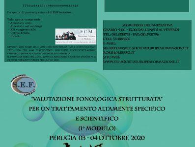 """Valutazione fonologica strutturata"""" per un trattamento altamente specifico e scientifico """" 1 Modulo""""                      ………………………………………………………………………………………………………………………………………………………………….(2° Modulo 11-12 Dicembre 2020)"""