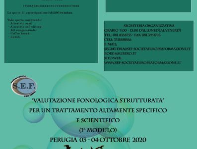 """Valutazione fonologica strutturata"""" per un trattamento altamente specifico e scientifico """" 1 Modulo"""""""